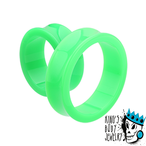 Green Acrylic Double Flare Tunnels
