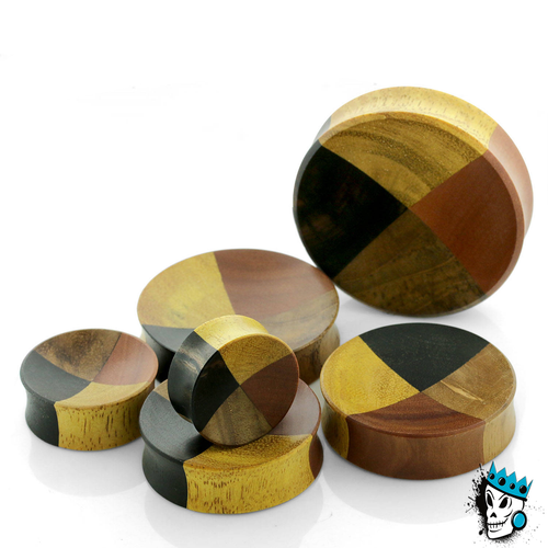 Four Wood Concave Plugs