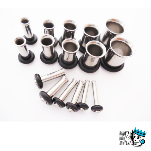 Single Flare Tunnels Ear Stretching Kit (14 gauge - 0 gauge)