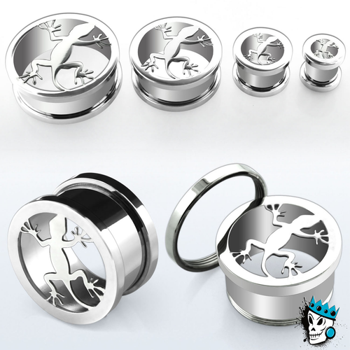 Lizard Stainless Steel Flesh Tunnels