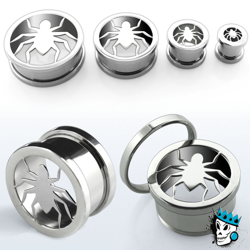 Spider Stainless Steel Flesh Tunnels
