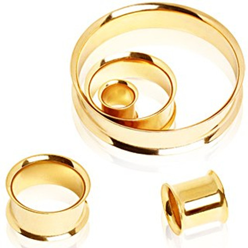 GOLD Double Flare Tunnels