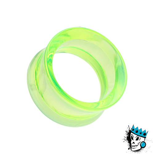 Semi Transparent Neon Acrylic Double Flare Tunnels