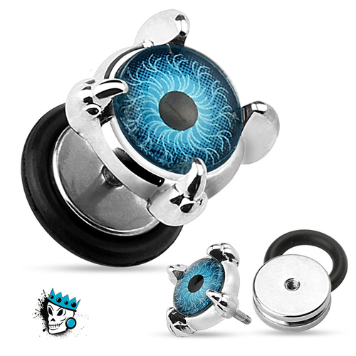 Blue Eye Fake Plugs (16 gauge)