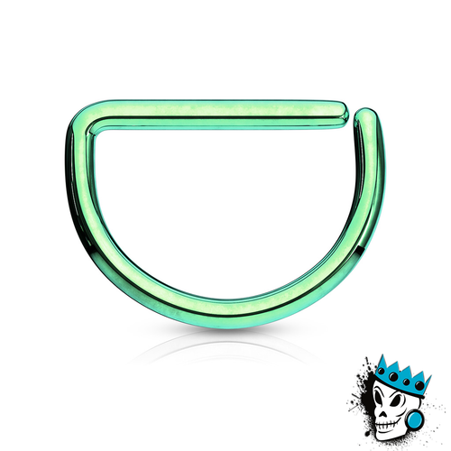 D Shaped Green Steel Seamless Segment Rings (20 g - 16 gauge)