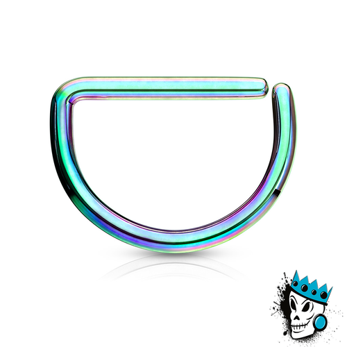 D Shaped Multicolored Steel Seamless Segment Rings (20 g - 16 gauge)