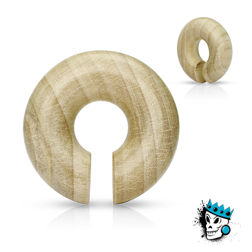 Crocodile Wood Hoops (2 g - 5/8 inch)