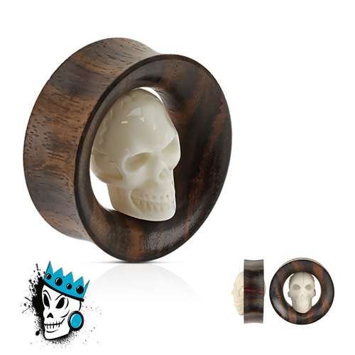Sono Wood Tunnel with an Inlaid Skull