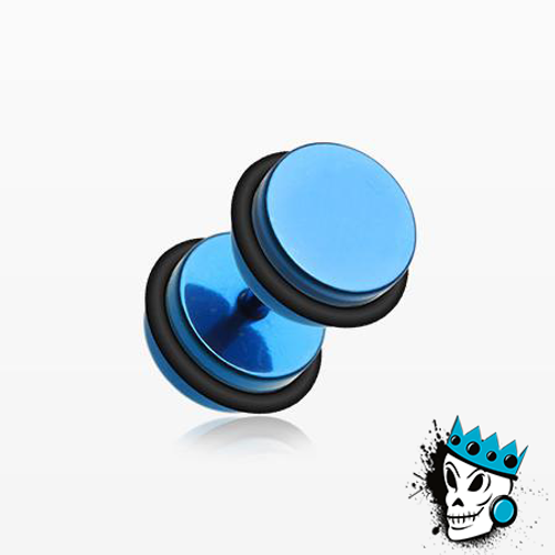Blue Anodized Fake Steel Plugs