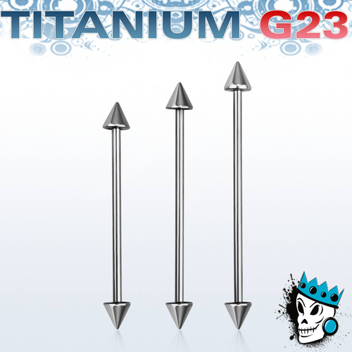Titanium Industrial Barbell with Spike