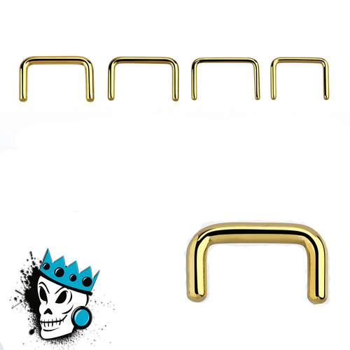 Gold Steel Septum Retainers