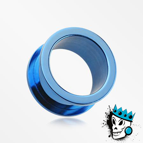 Blue Stainless Steel Flesh Tunnels