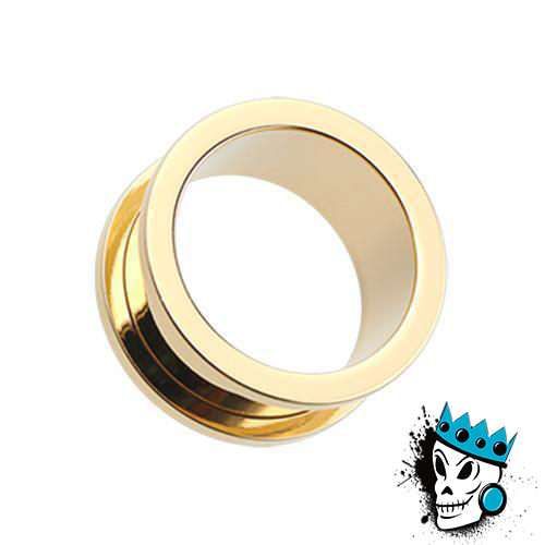Gold Stainless Steel Flesh Tunnels