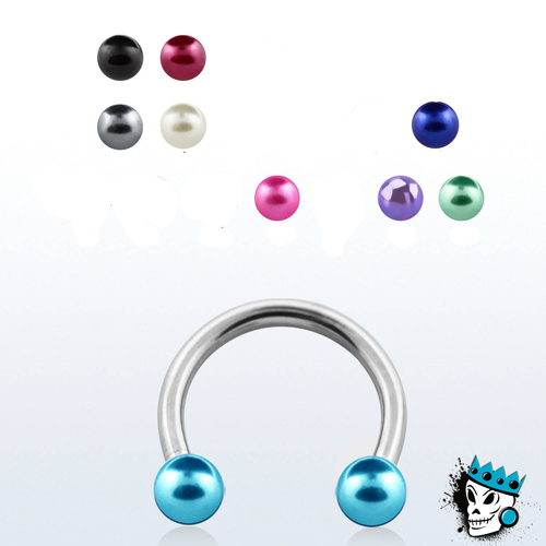 Steel Circular Barbells with Acrylic Balls