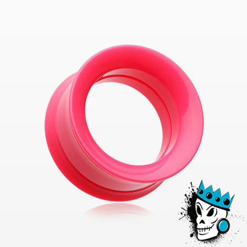 Pink Acrylic Internally Threaded Tunnels