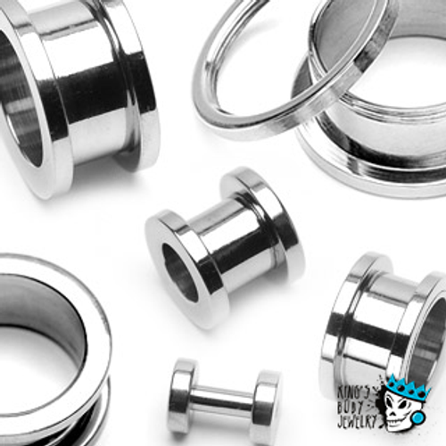 Stainless Steel Flesh Tunnels (16 gauge - 2 inch)