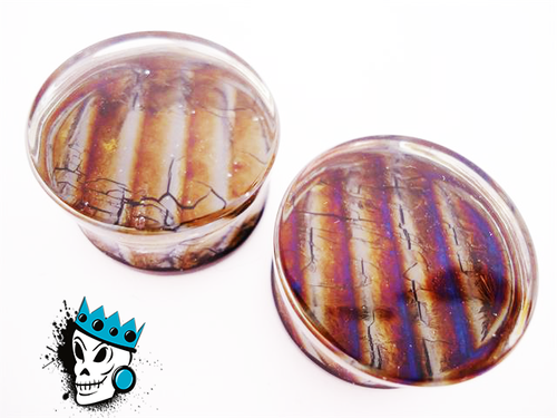 Gorilla Glass Iridescent Plugs