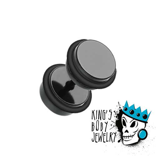 Black Steel Fake Plugs
