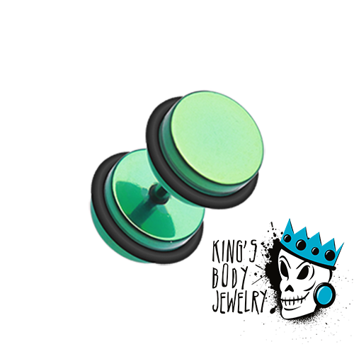 Green Anodized Fake Steel Plugs