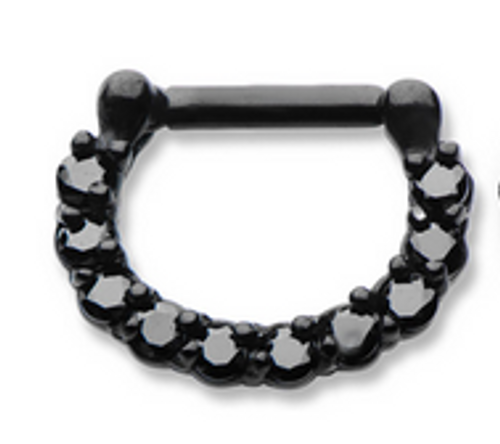 Black Septum Clicker (16 gauge - 14g)