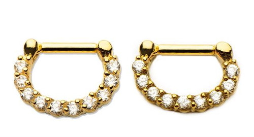 Gold Septum Clicker (16 gauge - 14g)