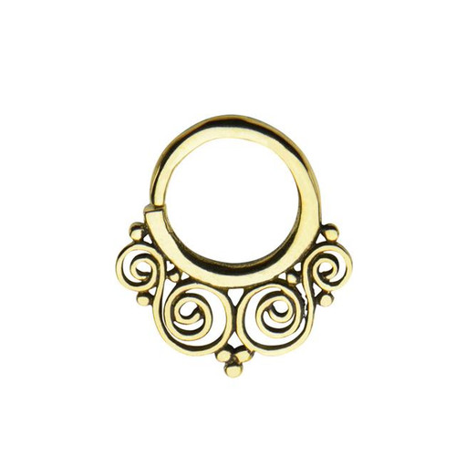 Brass Filigree Septum Ring (14 gauge)