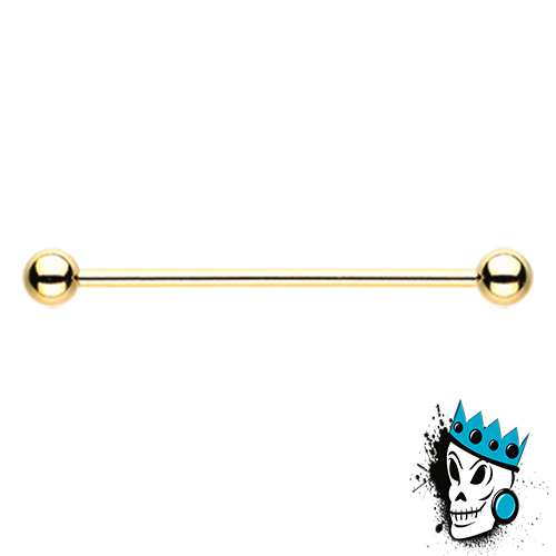 Gold Steel Industrial Barbell