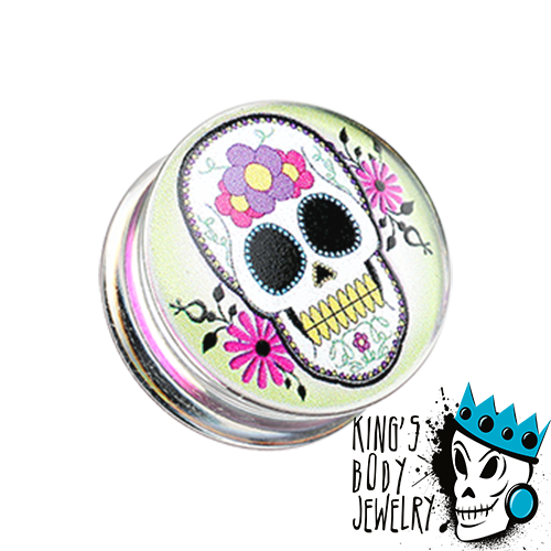 Voodoo Skull Picture Plugs