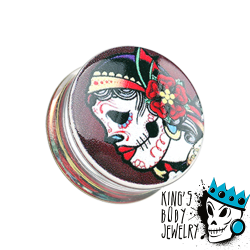 Day of the Dead Gypsy Plugs