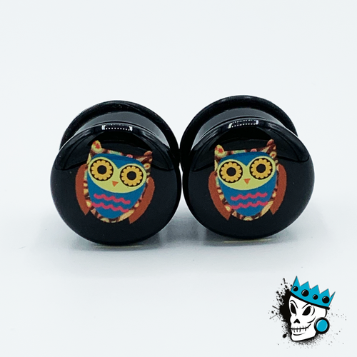 Owl Plugs (2 gauge - 1 inch)