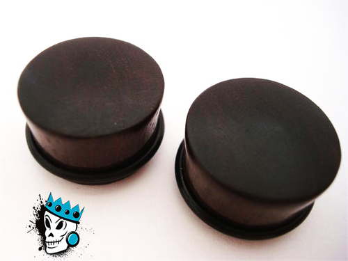 Single Flare Ebony Wood Plugs