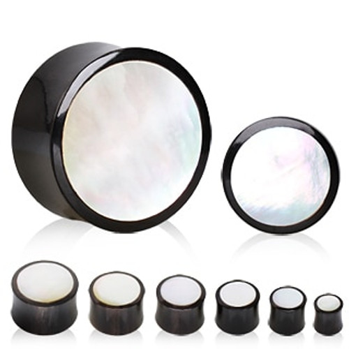 Mother of Pearl Plugs (4 gauge - 3/4 inch)