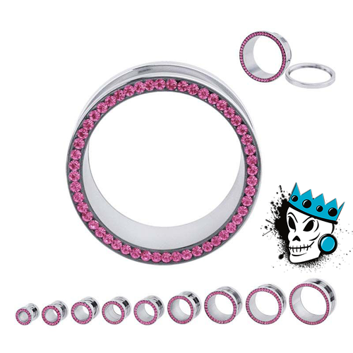 Pink Super Bling Flesh Tunnels