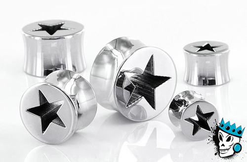 Stainless Steel Hollow Star Plugs