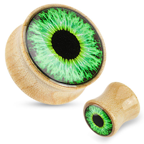 Eyeball Wood Plugs (0 gauge - 7/8 inch)