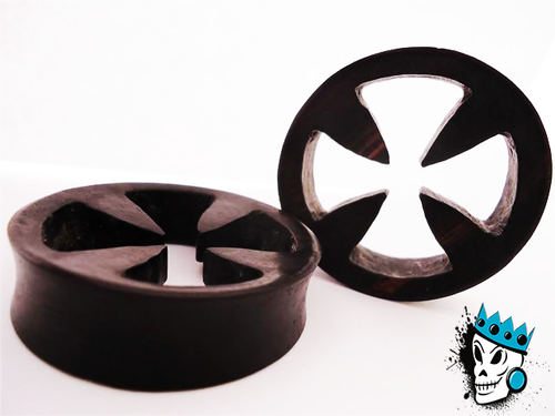 Cut Iron Cross Wood Plugs