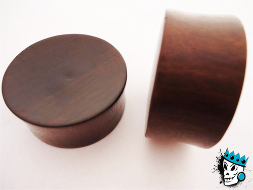 BIG WEARABLE AREA Wood Plugs