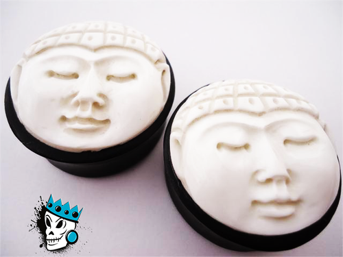 Carved Buddha Face Plugs