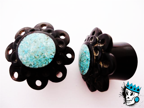 Turquoise & Horn Plugs