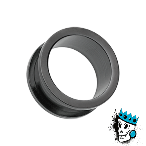 Black Stainless Steel Flesh Tunnels