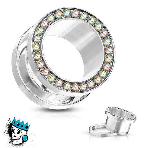 Stainless Steel Bling Flesh Tunnels