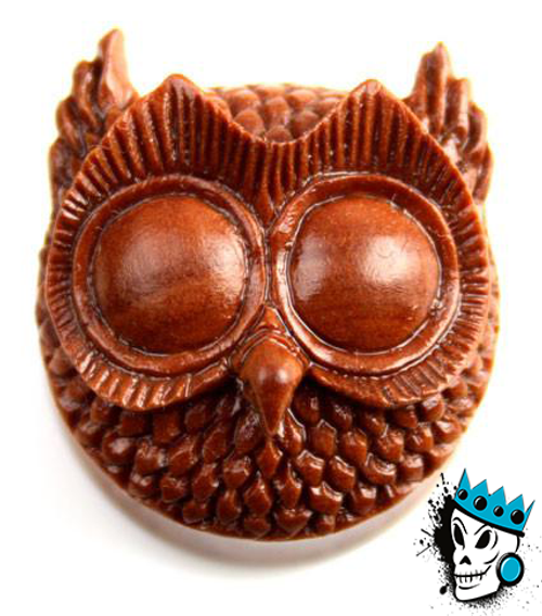 Sabo Wood Night Owl Plugs