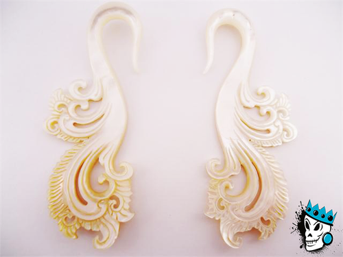 Diablo Organics Mother of Pearl Phoenix Hooks
