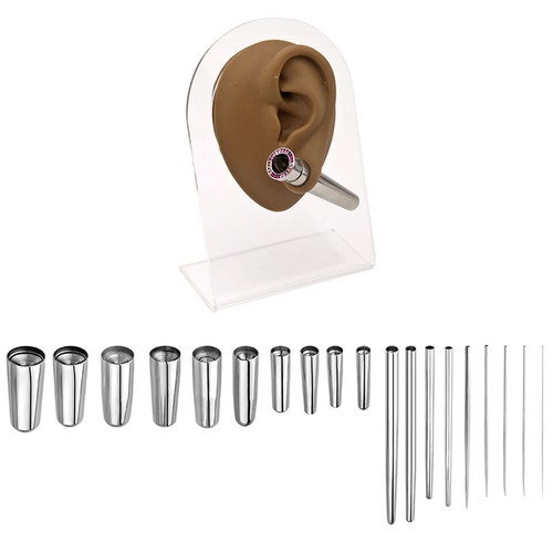 Concave Stainless Steel Taper (18 gauge - 1 inch)
