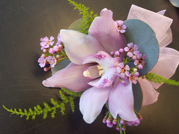 single orchid corsage