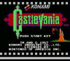 Castlevania Nintendo NES game title screen image pic