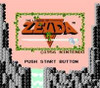 Legend of Zelda Gold Nintendo NES game title screen image pic