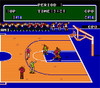Double Dribble Baseketball NBA Nintendo NES gameplay court image pic