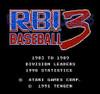 R.B.I. Baseball 3 - NES Game