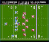 Tecmo Football Nintendo NES video gameplay footage lining up image pic